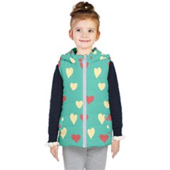 Love Heart Valentine Kids  Hooded Puffer Vest