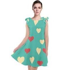 Love Heart Valentine Tie Up Tunic Dress by AnjaniArt