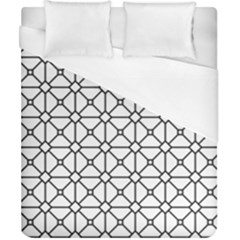 Mesh Pattern Grid Line Duvet Cover (california King Size)