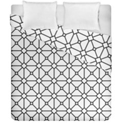 Mesh Pattern Grid Line Duvet Cover Double Side (california King Size)