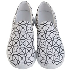 Mesh Pattern Grid Line Men s Lightweight Slip Ons by AnjaniArt