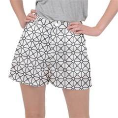Mesh Pattern Grid Line Stretch Ripstop Shorts