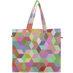 Mosaic Background Cube Pattern Canvas Travel Bag by AnjaniArt