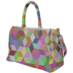 Mosaic Background Cube Pattern Duffel Travel Bag by AnjaniArt