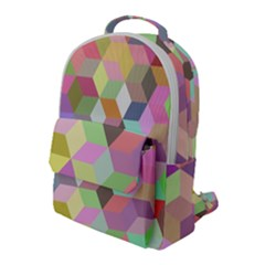 Mosaic Background Cube Pattern Flap Pocket Backpack (large) by AnjaniArt
