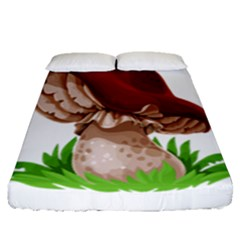 Mushroom Fitted Sheet (queen Size)
