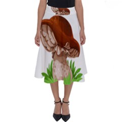 Mushroom Perfect Length Midi Skirt