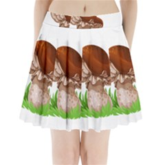 Mushroom Pleated Mini Skirt by AnjaniArt