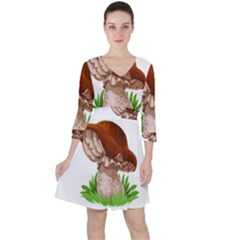 Mushroom Ruffle Dress by AnjaniArt