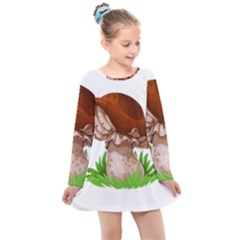 Mushroom Kids  Long Sleeve Dress