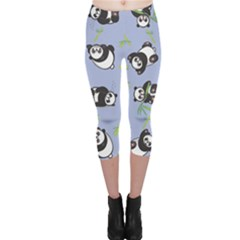 Panda Tile Cute Pattern Capri Leggings