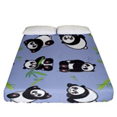 Panda Tile Cute Pattern Fitted Sheet (queen Size)
