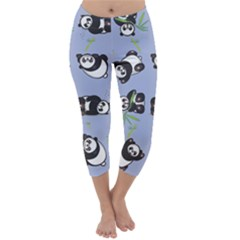 Panda Tile Cute Pattern Capri Winter Leggings