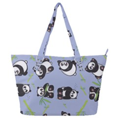 Panda Tile Cute Pattern Full Print Shoulder Bag