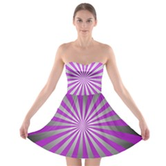 Purple Abstract Background Strapless Bra Top Dress