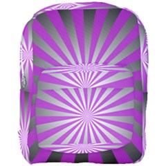 Purple Abstract Background Full Print Backpack
