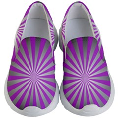 Purple Abstract Background Kids  Lightweight Slip Ons by AnjaniArt
