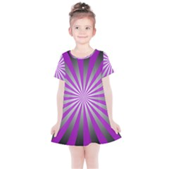 Purple Abstract Background Kids  Simple Cotton Dress