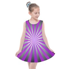 Purple Abstract Background Kids  Summer Dress by AnjaniArt