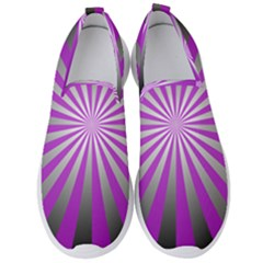Purple Abstract Background Men s Slip On Sneakers by AnjaniArt