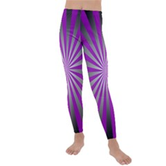Purple Abstract Background Kids  Lightweight Velour Leggings by AnjaniArt