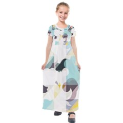 Love You To The Moon Kids  Short Sleeve Maxi Dress