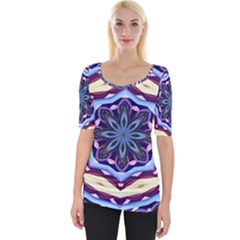 Mandala Wide Neckline Tee by AnjaniArt