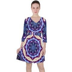 Mandala Ruffle Dress by AnjaniArt