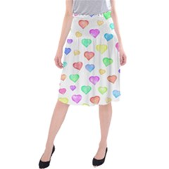 Love Hearts Shapes Midi Beach Skirt