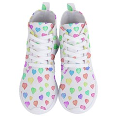 Love Hearts Shapes Women s Lightweight High Top Sneakers by AnjaniArt