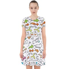 Pattern Art Arrow Adorable In Chiffon Dress by AnjaniArt