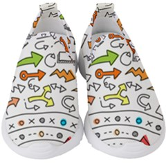 Pattern Art Arrow Kids  Slip On Sneakers by AnjaniArt