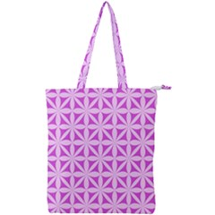 Magenta Wallpaper Seamless Pattern Double Zip Up Tote Bag
