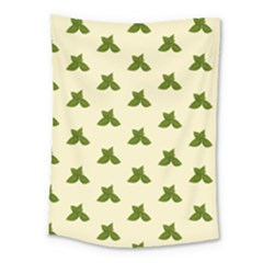 Leaf Pattern Green Wallpaper Tea Medium Tapestry