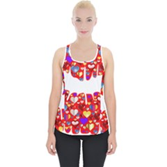 Heart Lips Kiss Romance Passion Piece Up Tank Top