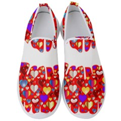 Heart Lips Kiss Romance Passion Men s Slip On Sneakers by Jojostore