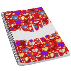 Heart Lips Kiss Romance Passion 5 5  X 8 5  Notebook by Jojostore