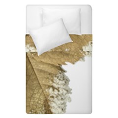 Leaf Edge Duvet Cover Double Side (single Size) by Jojostore