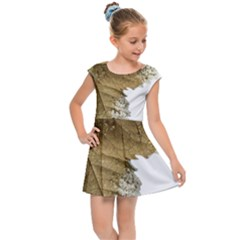 Leaf Edge Kids  Cap Sleeve Dress by Jojostore