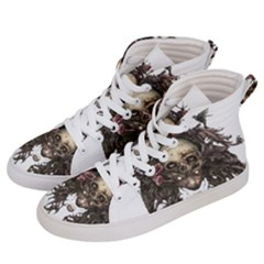 Illustration   Skull Men s Hi-top Skate Sneakers by Jojostore