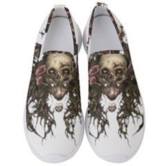Illustration   Skull Men s Slip On Sneakers by Jojostore