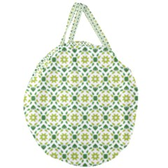 Leaves Floral Flower Flourish Giant Round Zipper Tote by Jojostore