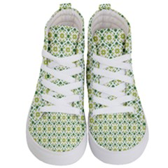 Leaves Floral Flower Flourish Kids  Hi Top Skate Sneakers