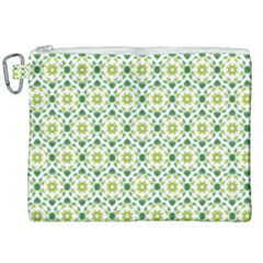 Leaves Floral Flower Flourish Canvas Cosmetic Bag (xxl) by Jojostore