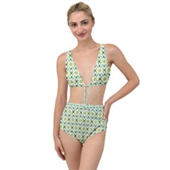 Leaves Floral Flower Flourish Tied Up Two Piece Swimsuit