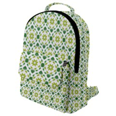 Leaves Floral Flower Flourish Flap Pocket Backpack (small)