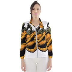 Lantern Halloween Pumpkin Illustration Windbreaker (women) by Jojostore