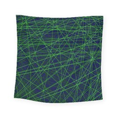 Line Geometric Blue Object Tinker Square Tapestry (small) by Jojostore