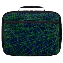 Line Geometric Blue Object Tinker Full Print Lunch Bag