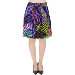 Leaves Nature Velvet High Waist Skirt